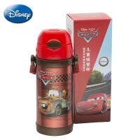 迪士尼正品便携保温杯 儿童不锈钢吸管水壶 小学生背带水杯