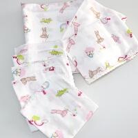 婴儿八件套装纯棉纱布薄手帕毛巾浴巾新生儿口水巾柔软