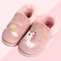 冬季儿童棉拖鞋包跟卡通可爱中大童居家室内保暖男童女童宝宝棉鞋