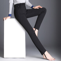 秋冬季打底裤女外穿长裤修身显瘦女裤小脚铅笔裤高腰黑色羽绒裤子 黑色