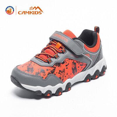 CAMKIDS童鞋男童鞋 2018春季新款儿童运动鞋登山鞋透气缓震尾品汇大促
