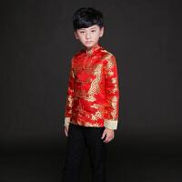 儿童演出服男孩红色周岁礼服宝宝唐装中国民族风男童套装冬季加厚