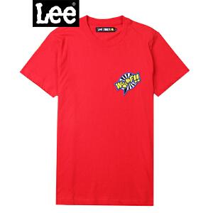 Lee男装 商场同款2018新品笑脸印花短袖T恤 L302712YV6ZQ