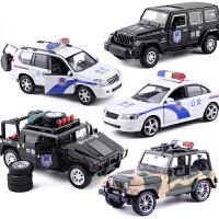 警车玩具声光版 特警回力车宝宝玩具小汽车合金车模型儿童玩具车