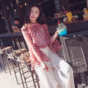 2018春装时髦套装开春女装港风女神范春款阔腿裤子两件套潮夏