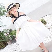 女童吊带背心裙子 夏季新款韩版儿童沙滩裙中大童女孩雪纺裙