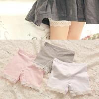 儿童打底裤女童短裤安全裤蕾丝边短裤五分裤