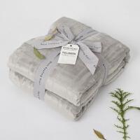 家纺冬季保暖加厚珊瑚绒单人盖毯 双面法兰绒双人毛毯床单