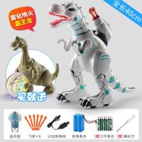 六一儿童节喷雾超大号遥控恐龙玩具仿真动物喷火霸王龙电动机器人 可喷雾/霸王龙/智能早教/充电版 送电动恐龙 2充电电池
