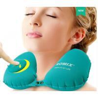 美观精致按压式自动充气U型枕旅行枕头护脖子护颈枕飞机靠枕成人旅游便携