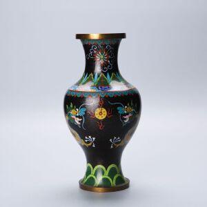 龙纹景泰蓝瓶鎏真金