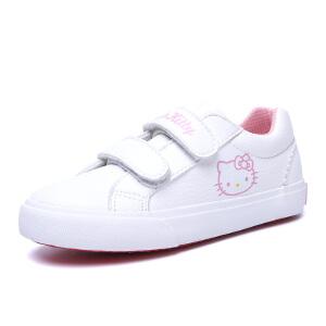 Hellokitty女童白鞋儿童帆布鞋春季中小童白色运动鞋凯蒂猫童鞋女
