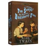 汤姆索亚哈克贝利费恩历险记 英文原版Adventures of Tom Sawyer 英文版儿童原版小说 正版进口英语