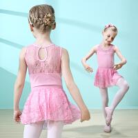 儿童舞蹈服女夏季无袖练功服女童连体芭蕾舞服幼儿拉丁考级跳舞裙