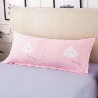 全棉双人枕套纯棉长枕头套1/1.2/1.5m米长枕套情侣枕芯加长枕芯套