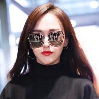 新款潮太阳镜眼镜圆脸偏光墨镜女士近视