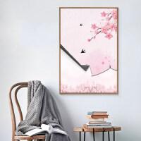【汲吉香家居】 现代简约装饰画客厅樱花挂画沙发背景墙壁画卧室床头画 60x90单幅 白色简框 独立