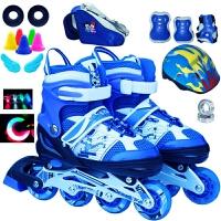 3-4-6-7-8-9-10岁儿童男女成人直排轮溜冰鞋滑冰鞋闪光发光轮子
