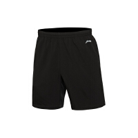 李宁男装跑步系列平口运动短裤运动服AKSL043