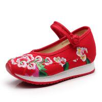 老北京布鞋女春季新款儿童鞋运动休闲旅游鞋民族风绣花鞋单鞋子