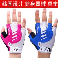 韩版薄款透气防滑半指健身手套 男女健身器械哑铃训练运动锻炼单车健身房耐磨手套