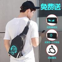 韩版新款胸包男士包包单肩斜挎包男帆布牛津布运动休闲包男包挎包e9a