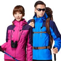 稻草人户外冲锋衣男三合一两件套冬季可拆卸西藏加绒加厚登山服