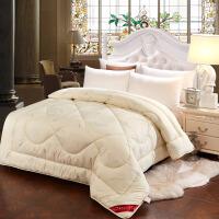 冬季羊毛被加厚保暖冬被羊毛被子冬天单人被芯棉被双人被褥 180x220cm 5斤冬被