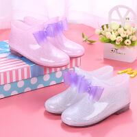 儿童雨鞋防滑男童女童雨靴公主中大童小孩小学生宝宝水鞋水靴胶鞋
