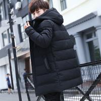 男士外套冬季2018新款潮流韩版中长款棉衣男冬装帅气加厚保暖衣服