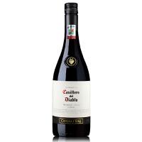 智利原瓶进口红酒 干露红魔鬼设拉子干红葡萄酒 750ml 螺旋盖