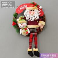 圣诞装饰品挂件圣诞老人雪人藤圈店面装饰橱窗挂饰圣诞节场景布置