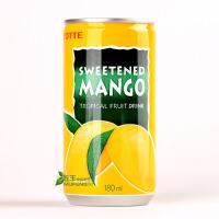 韩国进口饮料 LOTTE乐天芒果汁180ml 夏日果味饮品 冰冻更佳