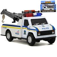 合金警车消防车小汽车模型儿童玩具车回力车套装声光跑车轿车礼物