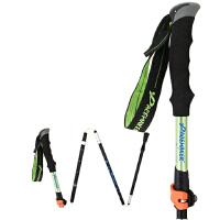 登山杖7075铝合金四五节折叠伸缩手杖外锁户外拐杖媲碳素