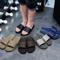 浴室拖鞋女夏季皮革室内厚底防滑洗澡家居家用男塑料沙滩凉拖鞋