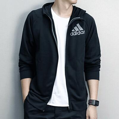 Adidas阿迪达斯 男子 连帽开衫 运动针织茄克 AI7478