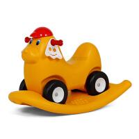 玩具摇马四轮车二合一双用儿童学步车溜溜车滑滑车咪咪小狗鸡车 健身童车