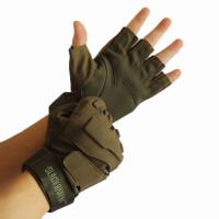 战术手套户外军迷防割防滑夏半指手套特战作战男黑鹰