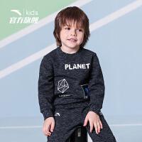 【3折价59.7】安踏儿童男小童卫衣2019春季新款儿童圆领卫衣套头衫小童套头卫衣