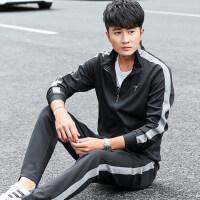 男士时尚休闲长裤套装 韩版潮流运动服卫衣两件套 大码户外运动套装男