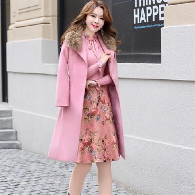 新款冬装时尚女式毛呢大衣套装三件套裙印花短裙真毛领 一般在付款后3-90天左右发货,具体发货时间请以与客服协商的时间为准