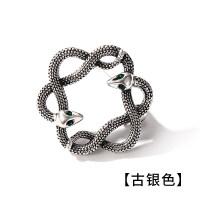 复古小动物蛇胸针男女日韩时尚情侣徽章别针西服胸花配饰品 古银色