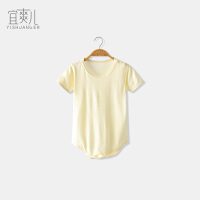 婴儿连体衣竹纤维三角哈衣男女宝宝夏季短袖包屁衣