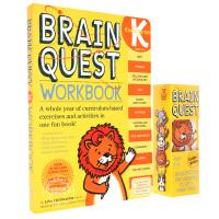 现货 英文原版 Brain Quest 大脑任务智力开发问答卡片书练习册组套装 幼儿园5-6岁 2盒装 英文原版 美国