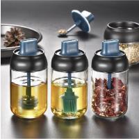 厨房瓶勺盖一体调味瓶盐刷油蜂蜜瓶家用防潮密封玻璃调料罐
