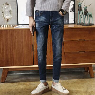 男士牛仔裤秋季日系复古潮流修身小脚裤男 学生破洞黑色长裤子男 一般在付款后3-90天左右发货,具体发货时间请以与客服协商的时间为准