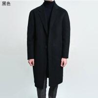 2018秋季新款冬季韩版双面羊绒呢子大衣男中长款毛呢外套落肩男士羊毛呢大衣