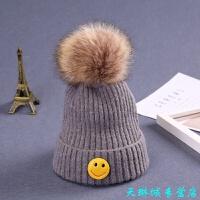 宝宝帽子秋冬帽 男童女童儿童毛线帽保暖冬季韩版潮