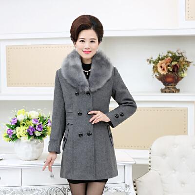 妈妈装毛呢外套秋装女士新款中老年女装40-50岁羊毛长款呢子大衣 发货周期:一般在付款后2-90天左右发货,具体发货时间请以与客服协商的时间为准